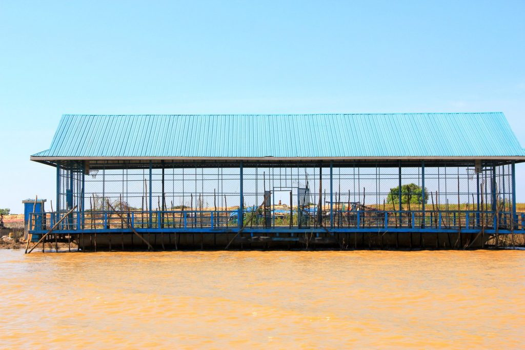 A Floating Basketball Court – Cambodia