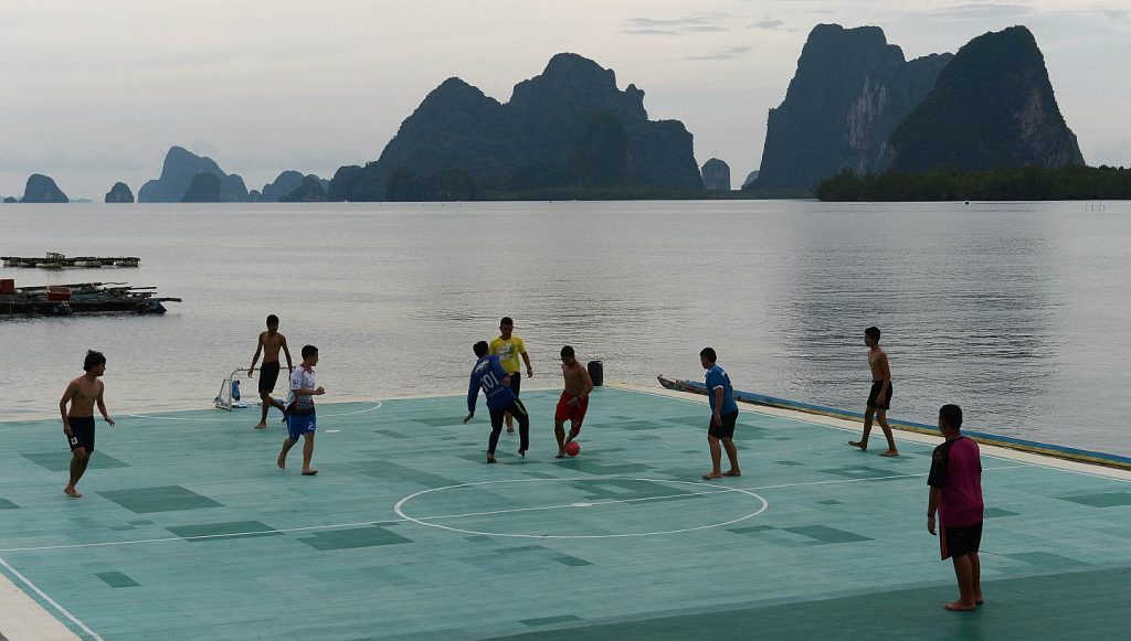 A Floating Football Pitch – Thailand