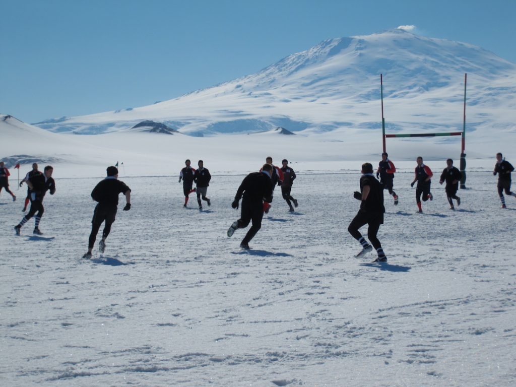 Ice Rugby – American McMurdo Station, Antarctica