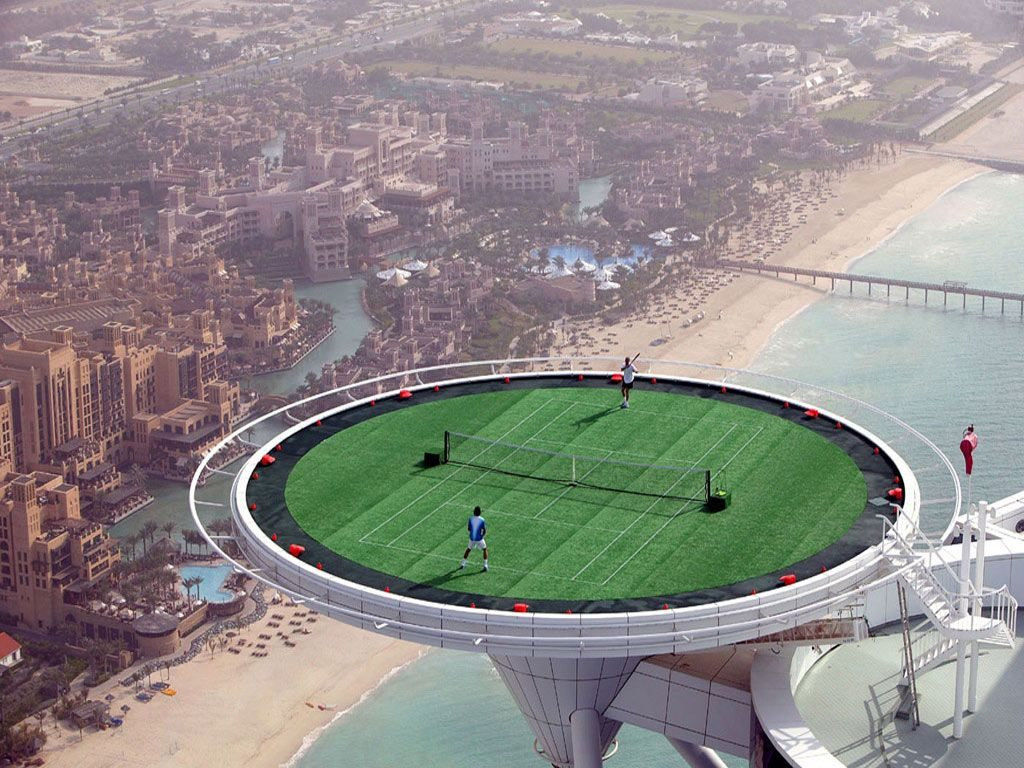 Tennis On A Helipad – Burj Al Arab, Dubai